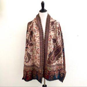 India Pashmina Shawl Oversized Paisley Design
